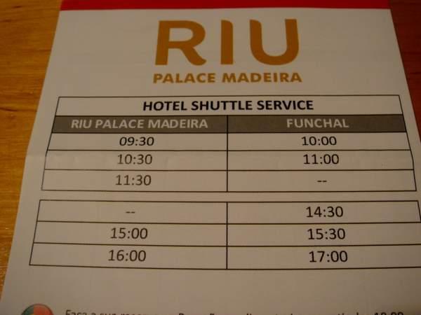 Riu Palace Madeira Nov. / Dez. 2018