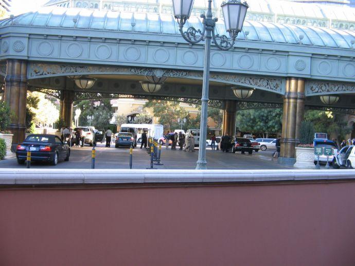 Hotel Bellagio Eingangsbereich / Fahrzeuge - Las Vegas