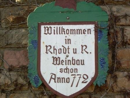 Rhodt unter Rietburg, Deutsche Weinstrasse