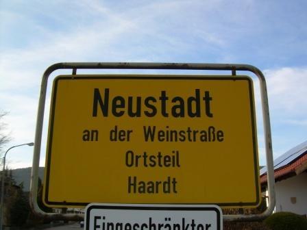 Haardt ( OT von Neustadt ) Deutsche Weinstrasse