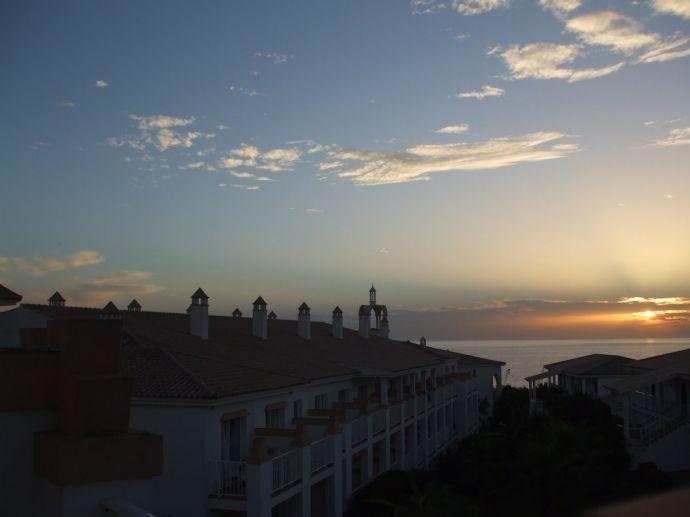 RIU Chiclana, Sonnenuntergang von unserem Balkon aus