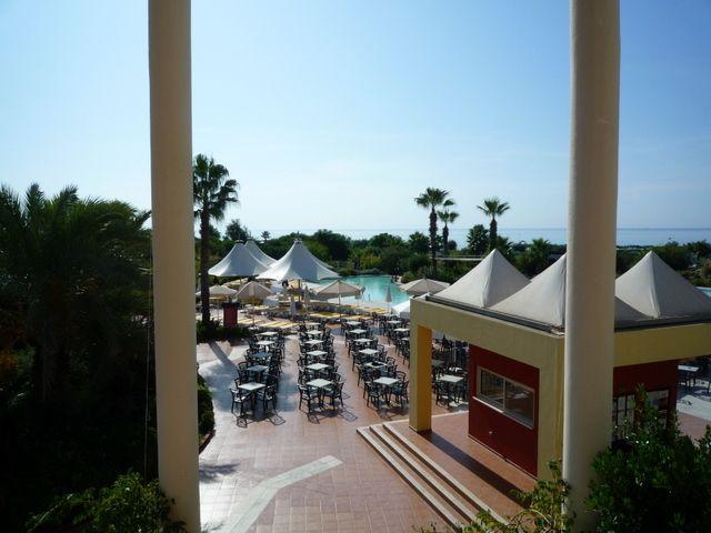 Club Riu Kaya, Aussicht von der Terasse des Restaurants
