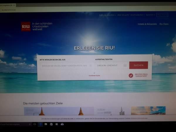 RIU Webseite - Neues Design, Juli 2017
