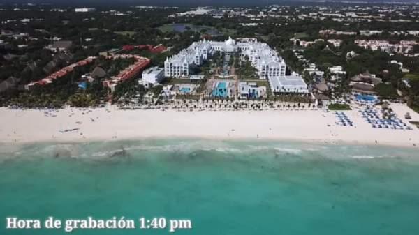 Das neue RIU Palace Riviera Maya von oben