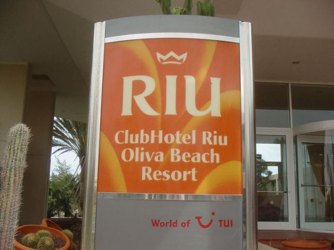 Riu Olivia Beach Resort  - Eingangsschild