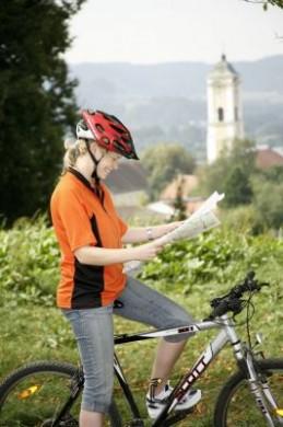 Radfahrerin