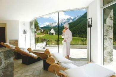 Entspannen nach einem intensiven Tag im Weltnaturerbe Dolomiten.