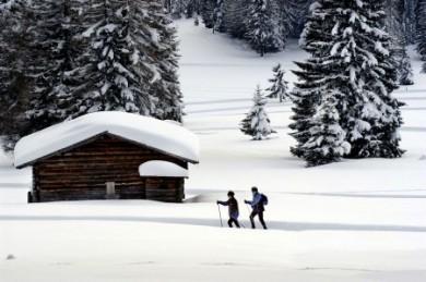 Gemeinsam mit der besten Freundin auf Schneeschuhen durch den Tiefschnee gleiten.