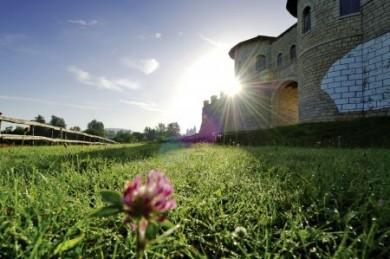 """Das Kastell Biriciana beherbergte einst römische Reiter. Heute ist das rekonstruierte Nordtor mit seinen zwei Wachtürmen das Aushängeschild des """"römischen"""" Weißenburg."""