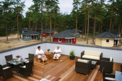 Die familienfreundlichen Anlagen verfügen auch über einen großzügen Wellnessbereich mit Fitnessbereich und Saunalandschaft.