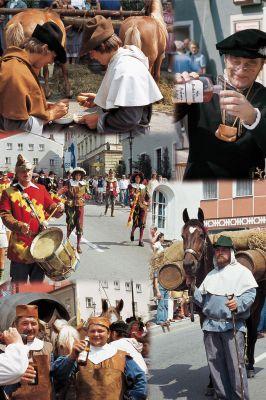 """Im Jahr 2011 feiert Grafenau das 650-jährige Bestehen des ehemaligen Salzhandelswegs """"Gulden Strass""""."""