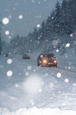 Autofahrt im Winter