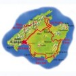 Insel Mallorca Karte