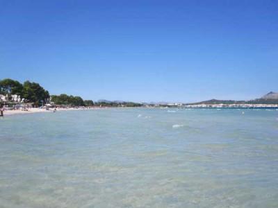 strand Can Picafort Bucht von Alcudia Mallorca